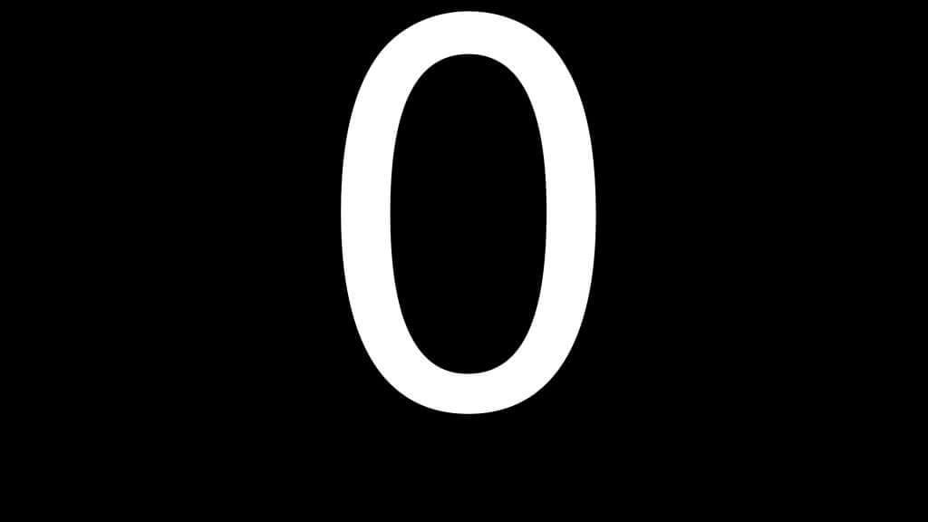 цифра ноль